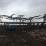 Structural steel frame for a house