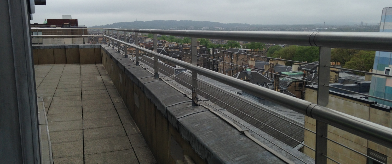 Stainless steel exterior balustrade