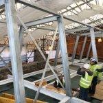 Internal steel frame